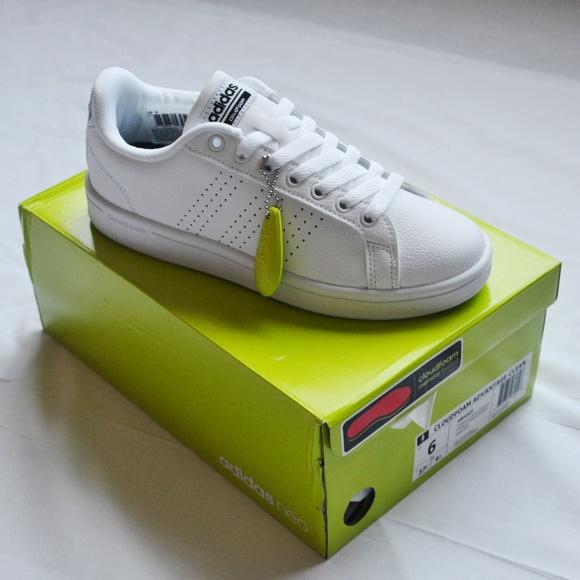 adidas NEO Cloudfoam Advantage White Sneakers